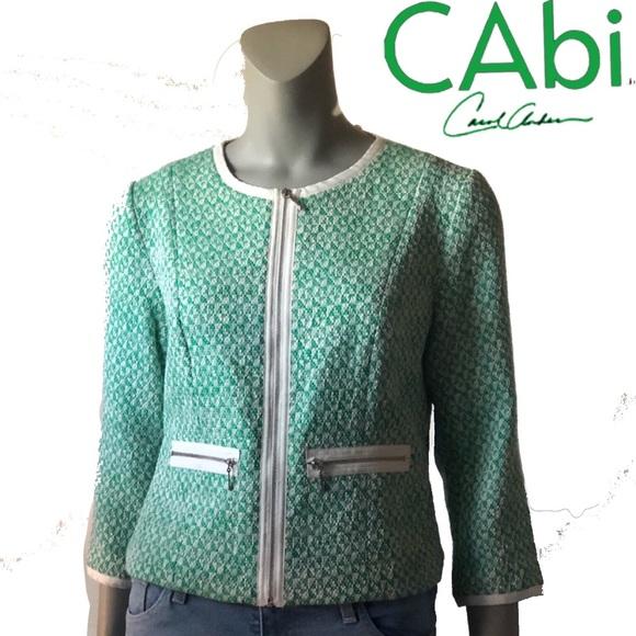 CAbi Jackets & Blazers - CAbi Cover Tweed Cropped Jacket Blazer 726